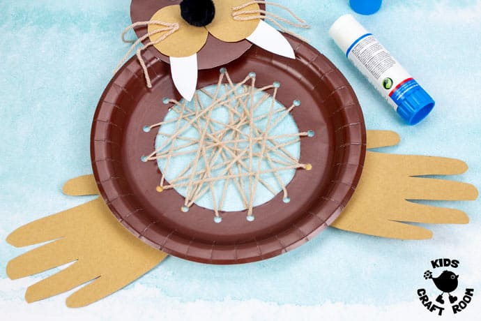 Laced Paper Plate Walrus Craft step 9