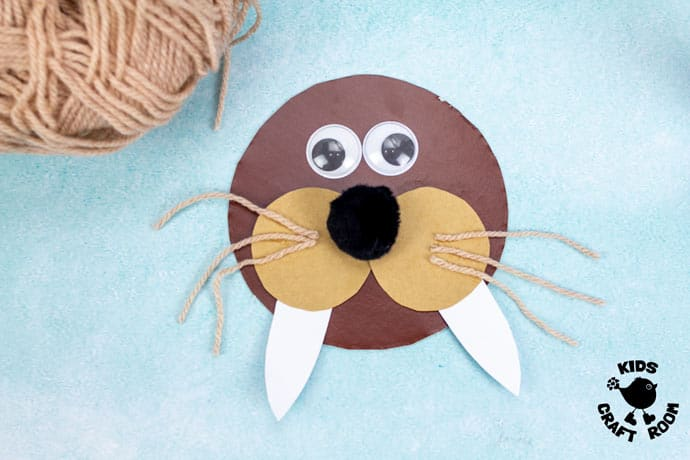 Laced Paper Plate Walrus Craft step 6