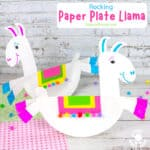 Rocking Paper Plate Llama Craft