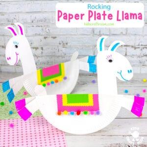 Rocking Paper Plate Llama Craft