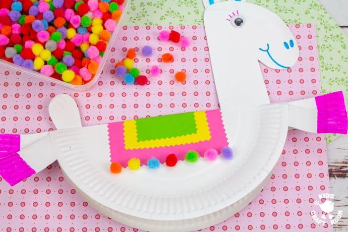 Rocking Paper Plate Llama Craft step 9