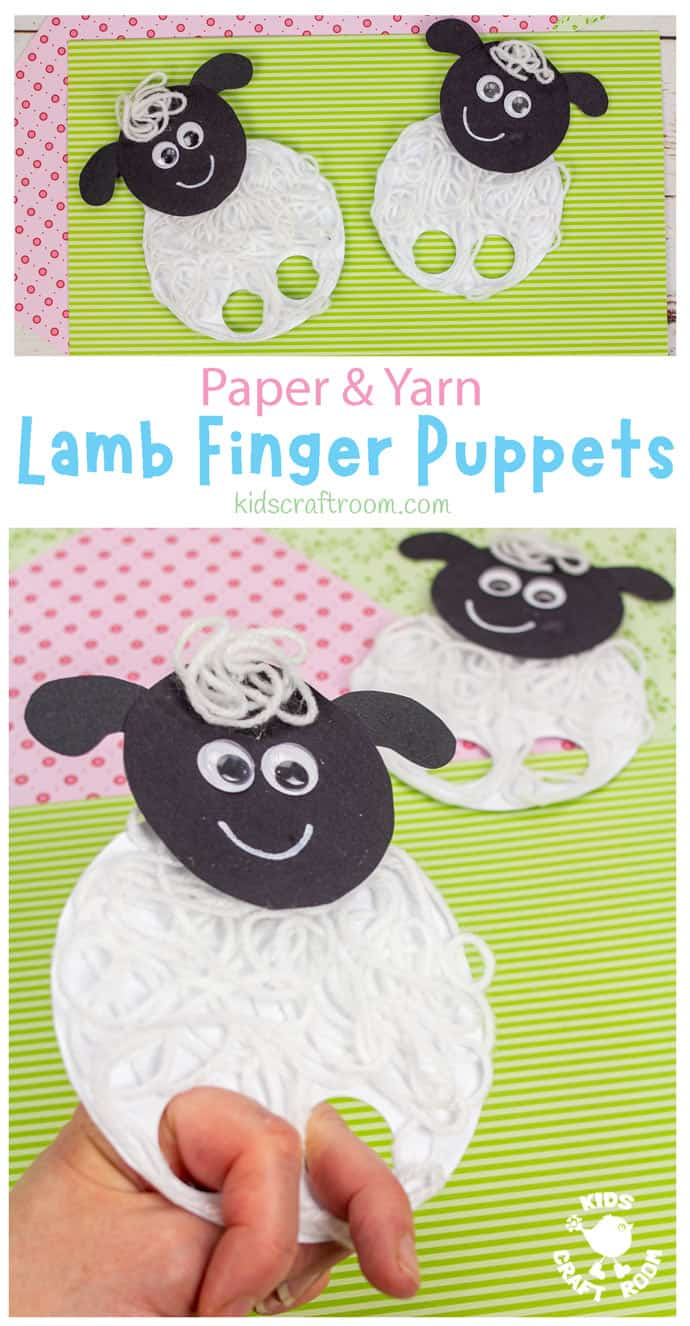 Yarn Lamb Finger Puppets pin image 1