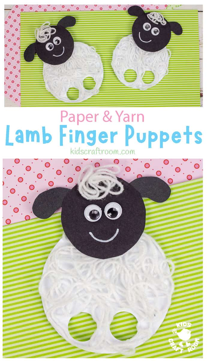 Yarn Lamb Finger Puppets pin image 2