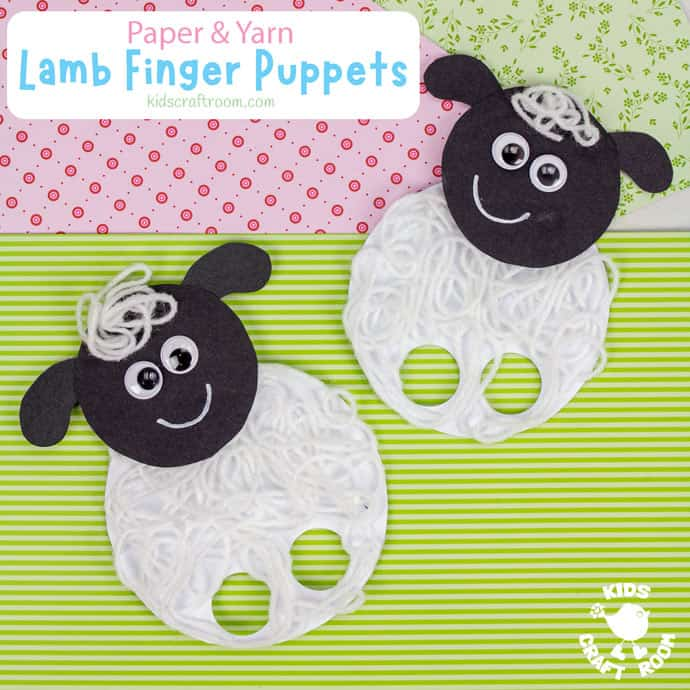 Yarn Lamb Finger Puppets square image