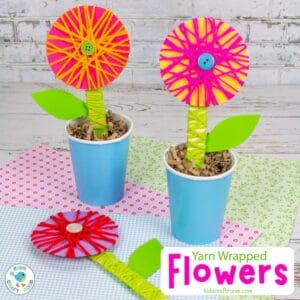 Yarn Wrapped Flower Craft