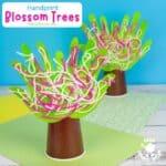 Handprint Cherry Blossom Tree Craft
