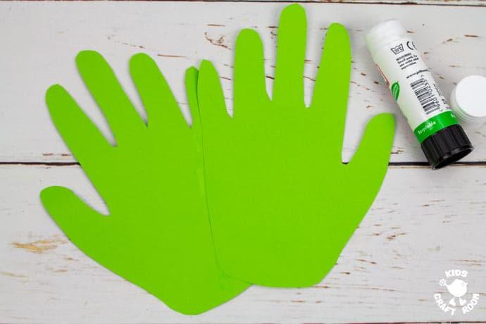 Handprint Cherry Blossom Tree Craft step 2