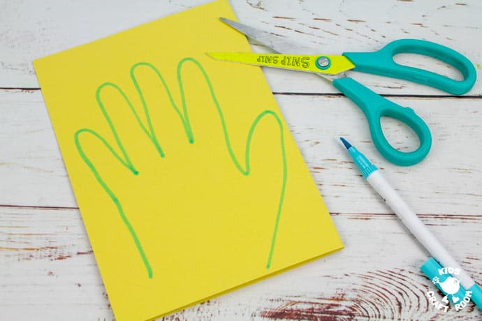 Handprint Daffodil Craft step 2