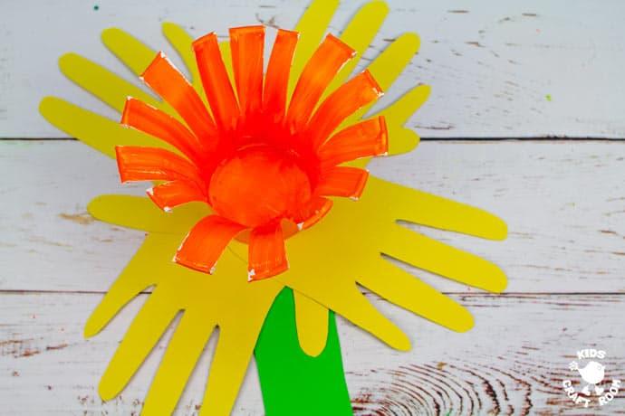 Handprint Daffodil Craft step 7