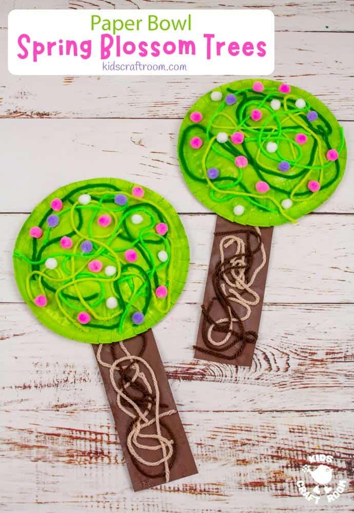 Paper Bowl Spring Tree Craft pin image 3.