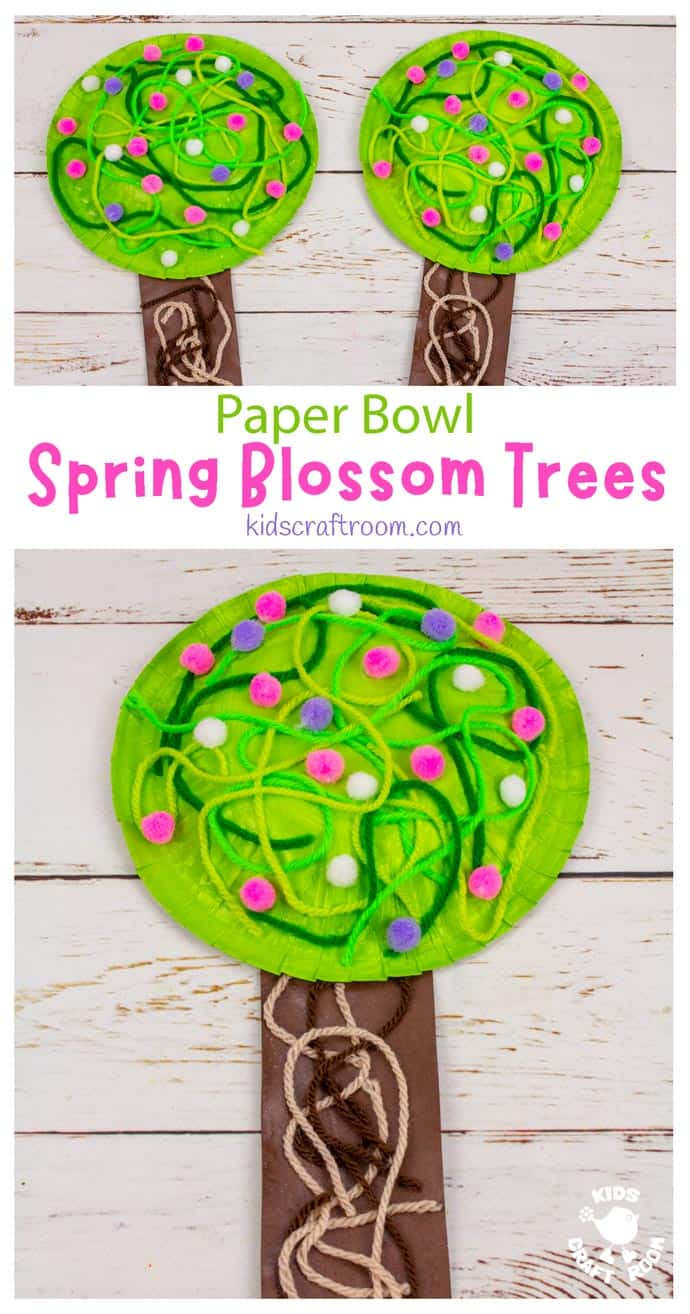 Paper Bowl Spring Tree Craft pin image 1.