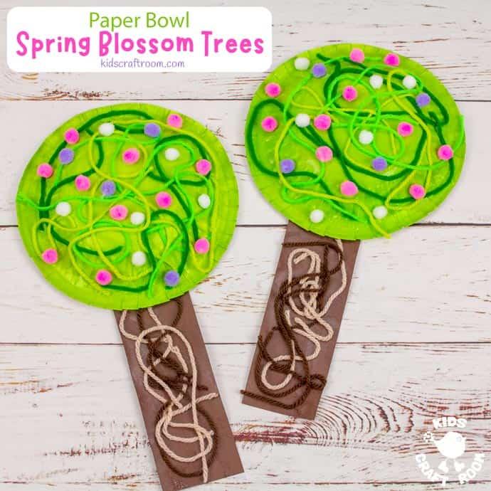 Paper Bowl Spring Tree Craft