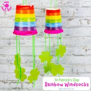 Paper Cup St Patrick's Day Windsock Craft
