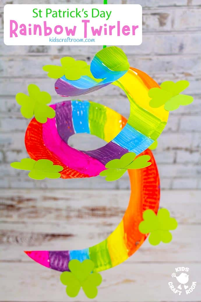 St Patrick's Day Paper Plate Twirler Craft pin image