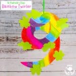 St Patrick's Day Paper Plate Twirler Craft
