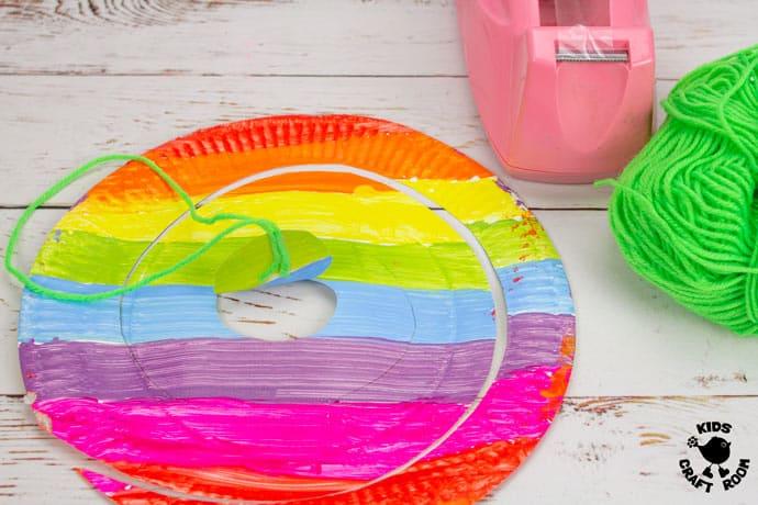 St Patrick's Day Paper Plate Twirler Craft step 5