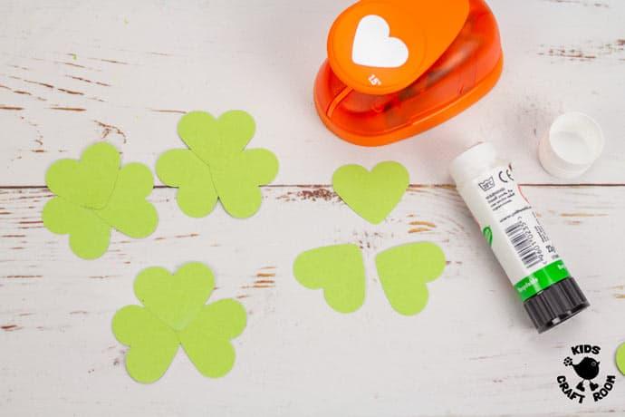 St Patrick's Day Paper Plate Twirler Craft step 3