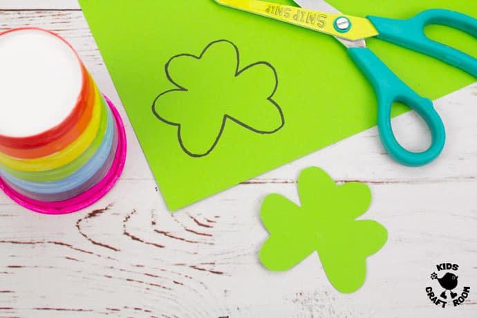 St Patrick's Day Shamrock Puppet Craft step 2