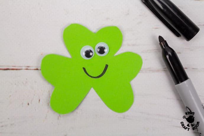 St Patrick's Day Shamrock Puppet Craft step 3
