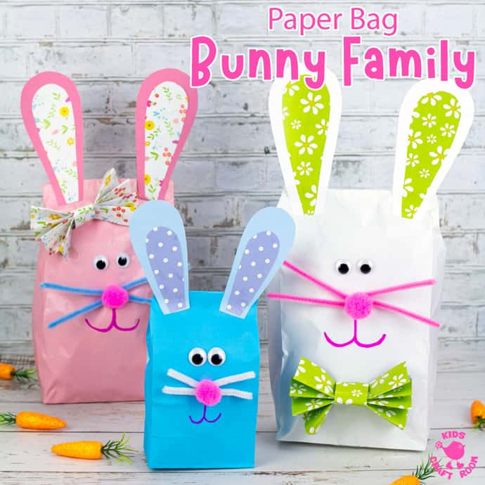 Stuffed Paper Bag Bunny Craft