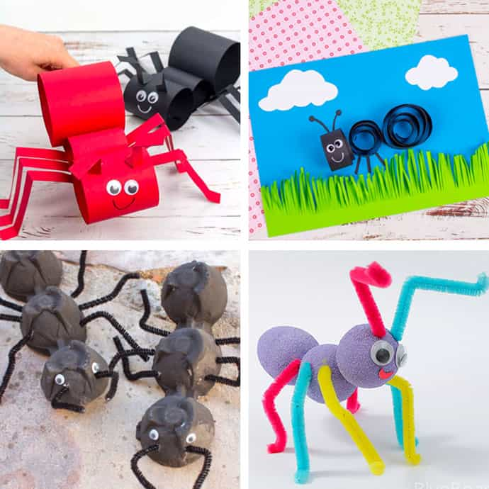 Ant Crafts For Kids 1-4.