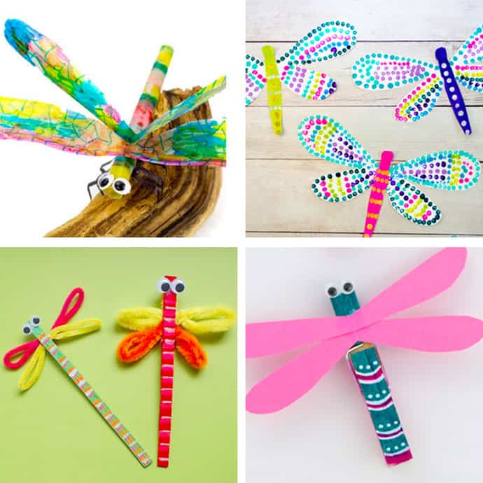 20 Pretty Dragonfly Crafts For Kids 1-4.
