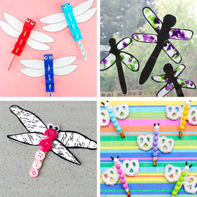 20 Pretty Dragonfly Crafts For Kids 5-8.