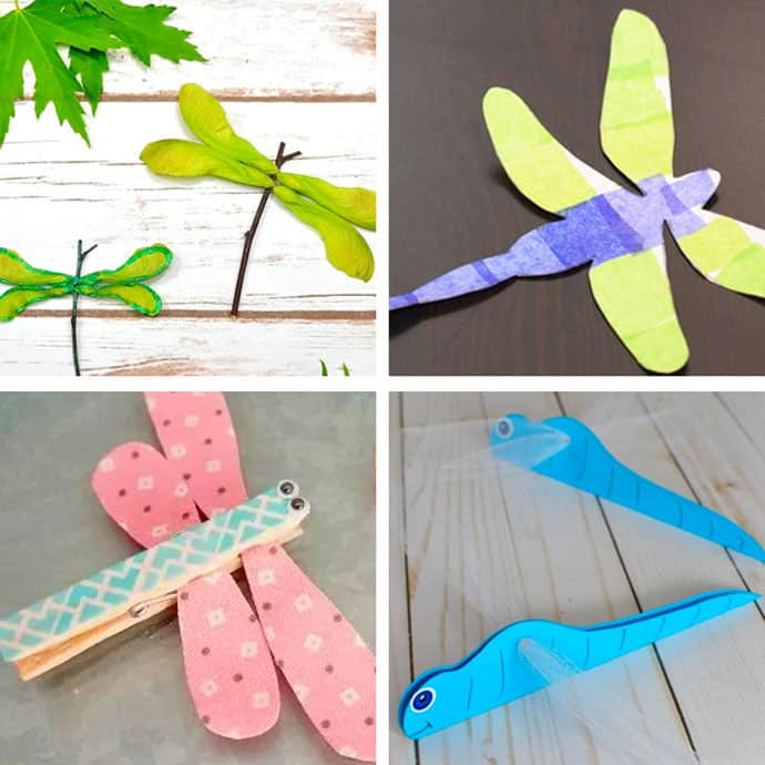 20 Pretty Dragonfly Crafts For Kids 9-12.