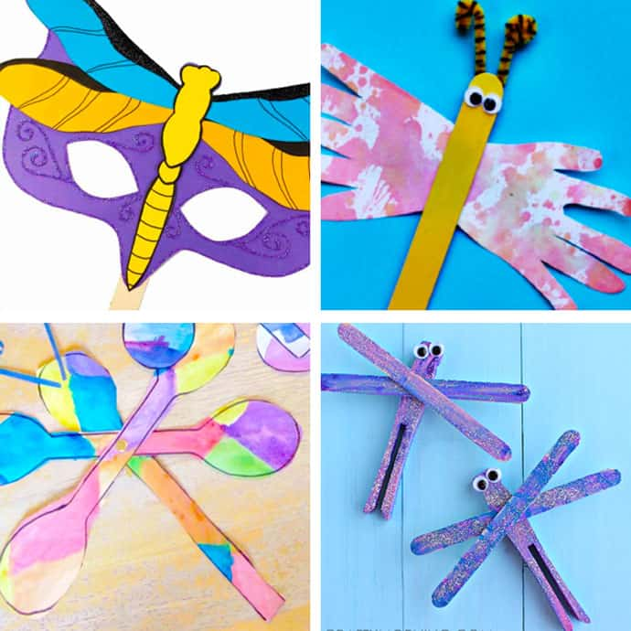 20 Pretty Dragonfly Crafts For Kids 13-16.