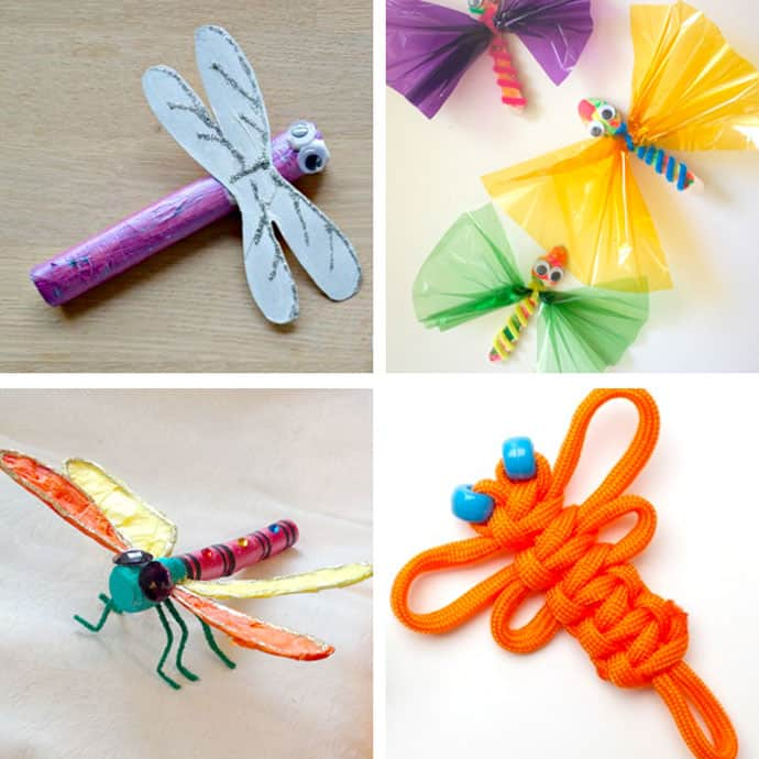 20 Pretty Dragonfly Crafts For Kids 17-20.