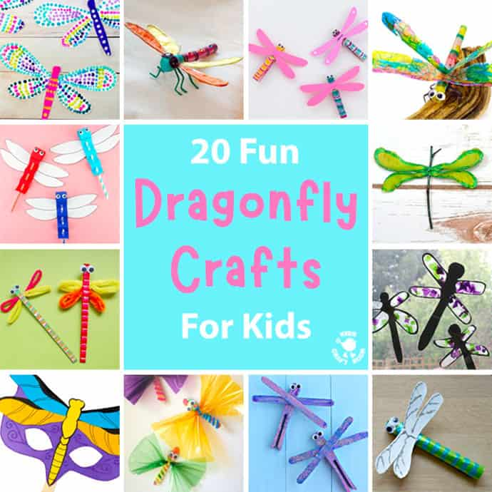 20 Pretty Dragonfly Crafts For Kids square image.