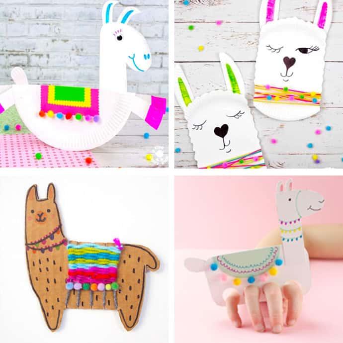 Llama Crafts For Kids 1 - 4.