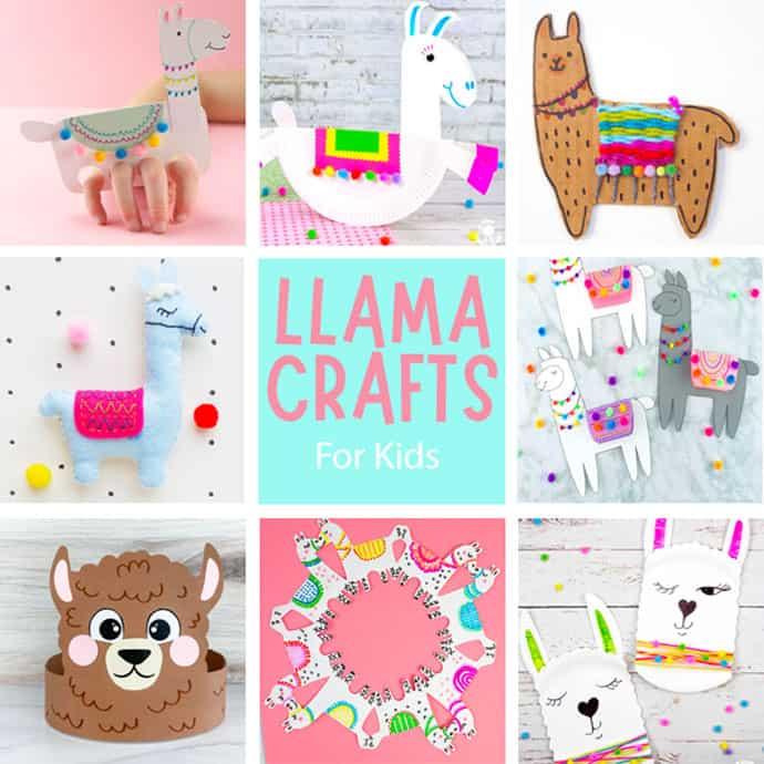 Llama crafts for kids.