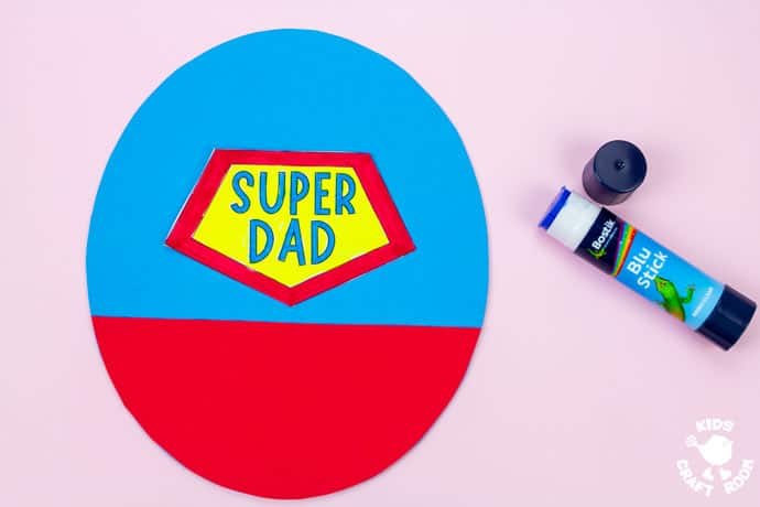 Father's Day Flying Super Dad Craft step 3.