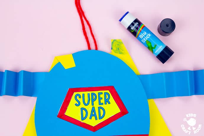 Father's Day Flying Super Dad Craft step 7.