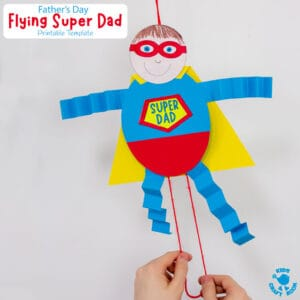 Father's Day Flying Super Dad Craft
