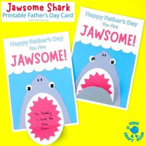 Shark Father's Day Card - Printable Template with Fun Shark Pun!