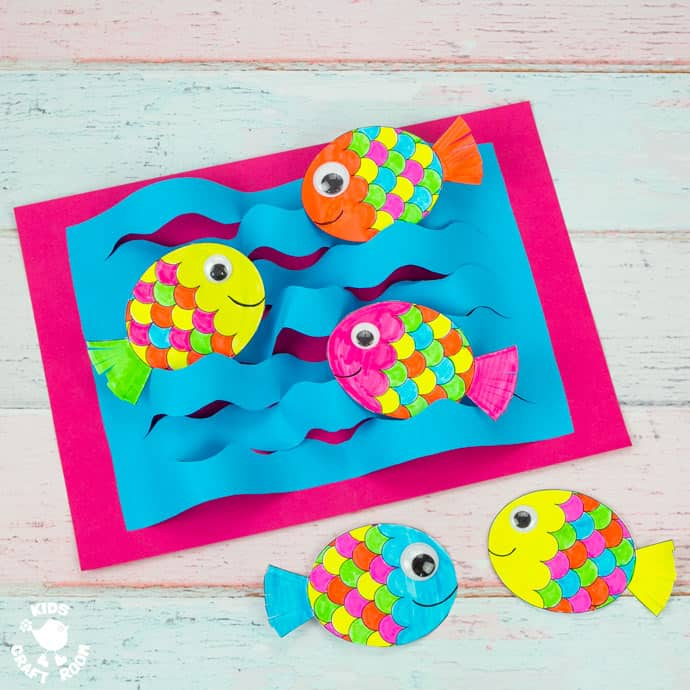 Swimming Fish Craft square image.
