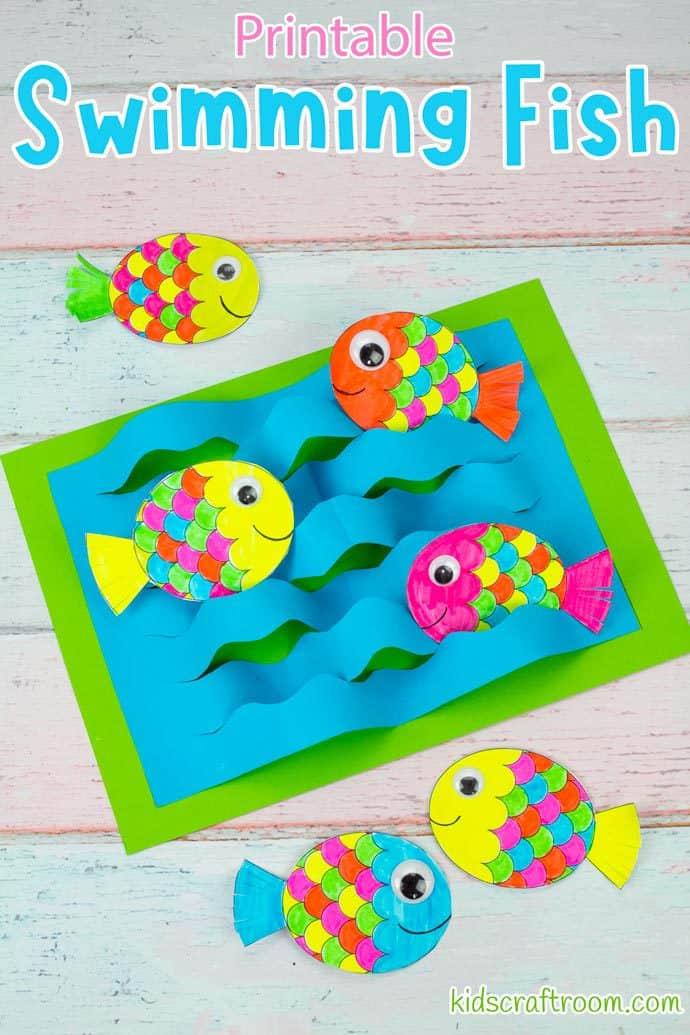Swimming Fish Craft pin image 2.
