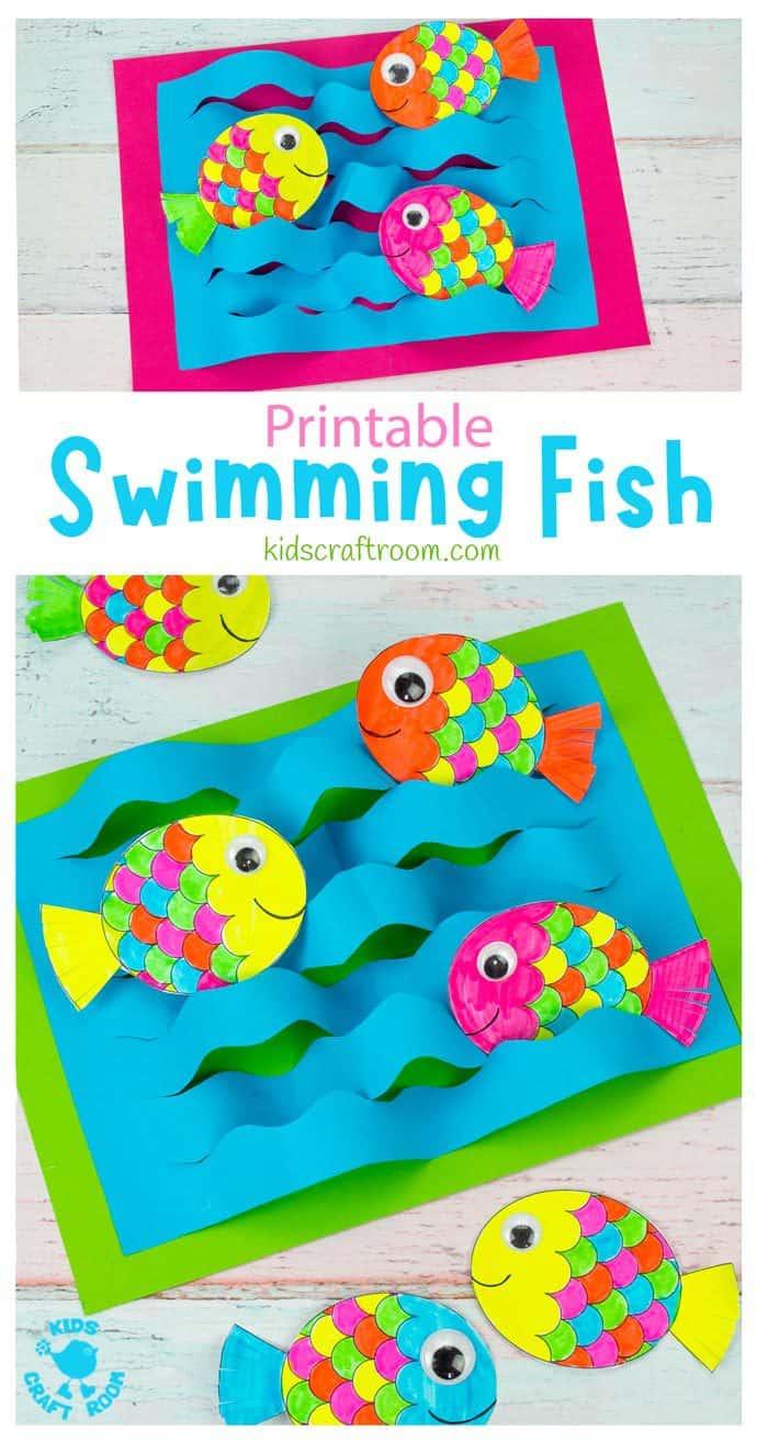 Swimming Fish Craft pin image 1.