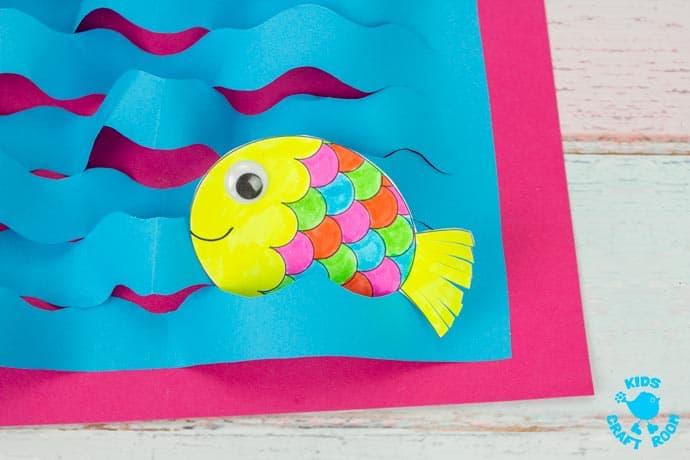 Swimming Fish Craft step 9.