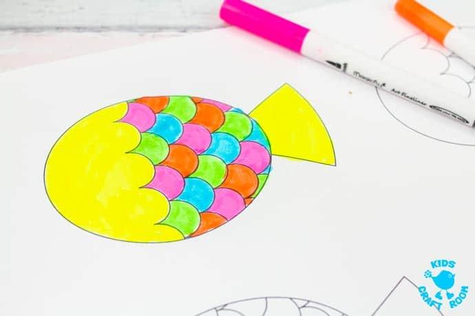 Swimming Fish Craft step 7.