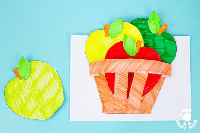 Apple Basket Craft step 10.
