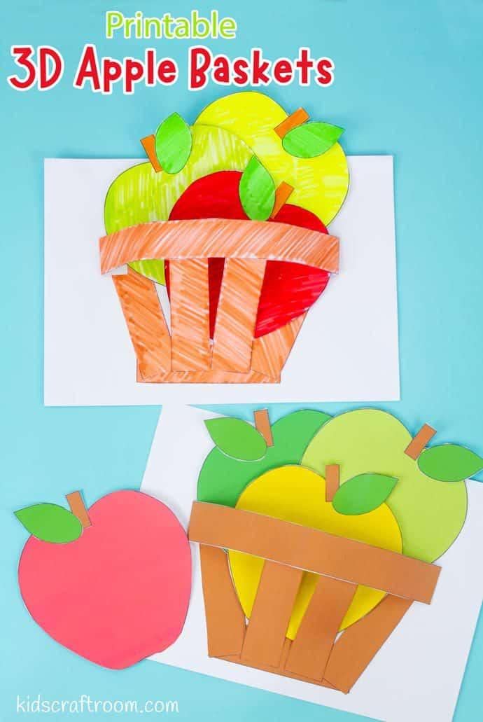Apple Basket Craft pin image 2.