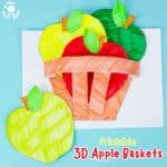 Apple Basket Craft - Printable Template