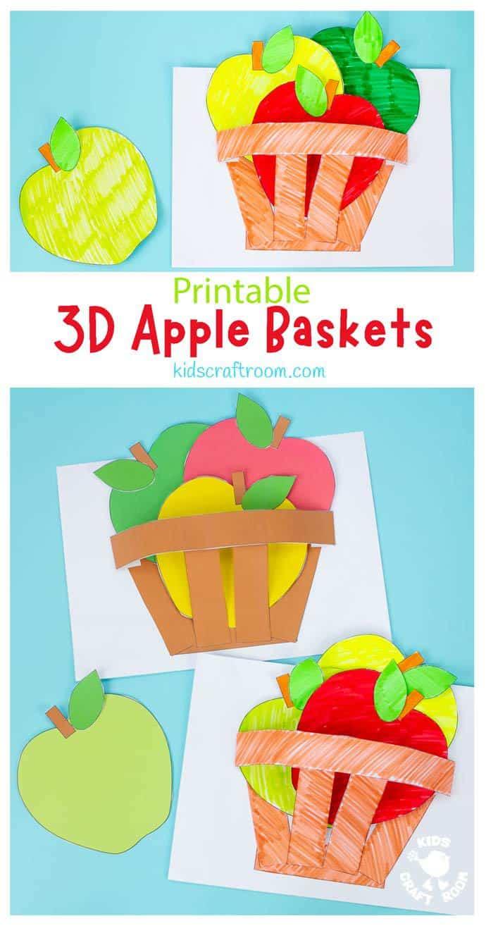Apple Basket Craft pin image 1.