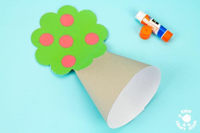 Apple Tree Fairy House Craft step 5.