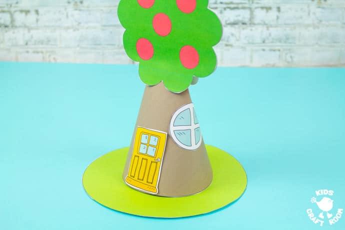 Apple Tree Fairy House Craft step 6.