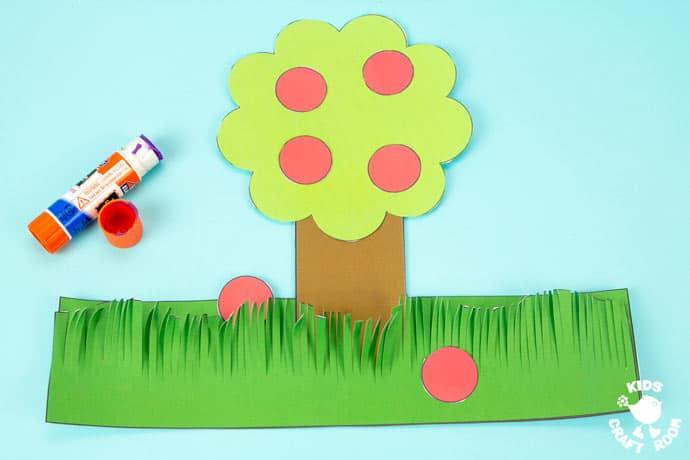 Apple Tree Hat Craft step 5