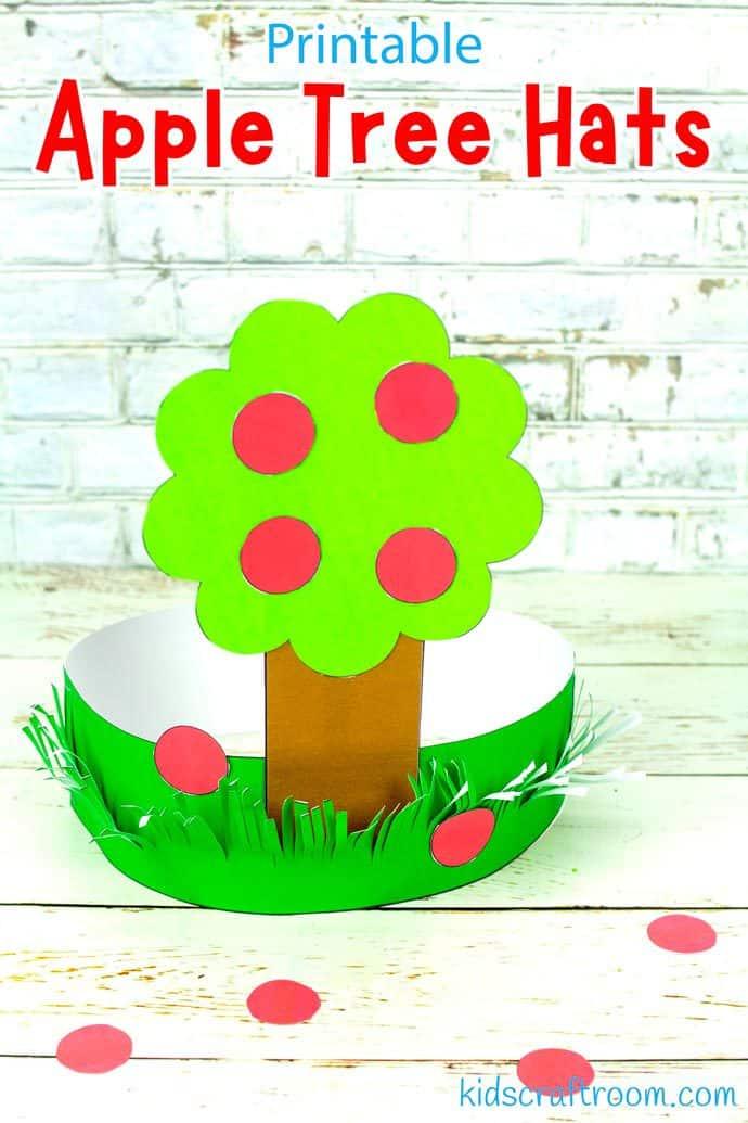 Apple Tree Hat Craft pin image 2.